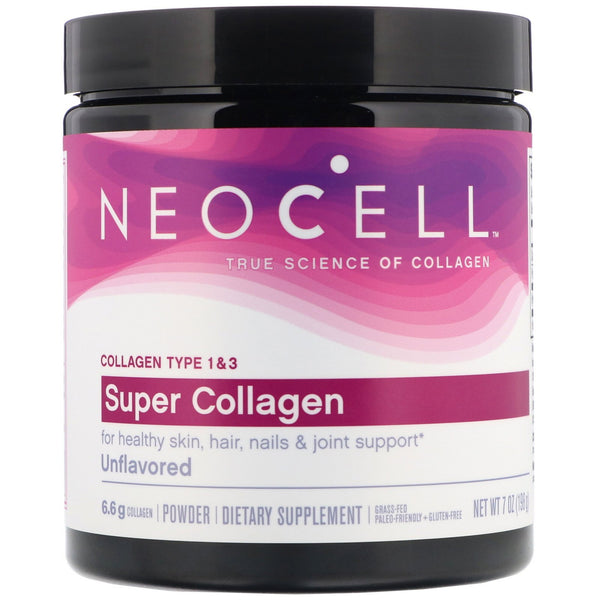 Neocell, Super Collagen, Unflavored, 7 oz (198 g) - The Supplement Shop