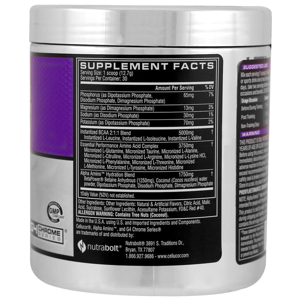 Cellucor, Alpha Amino, Performance BCAAs, Fruit Punch, 13.4 oz (381 g) - The Supplement Shop