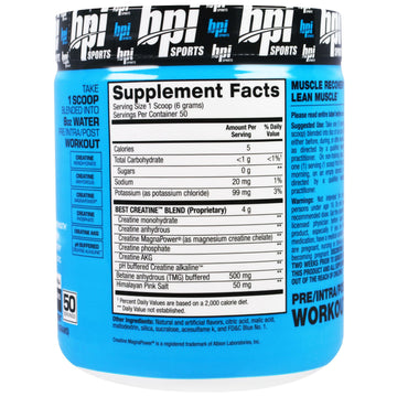 BPI Sports, Best Creatine Pro Strength Creatine Blend, Icy Blue Raz, 10.58 oz (300 g)