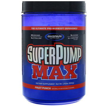 Gaspari Nutrition, SuperPump Max, Fruit Punch Blast, 1.41 lbs (640 g)