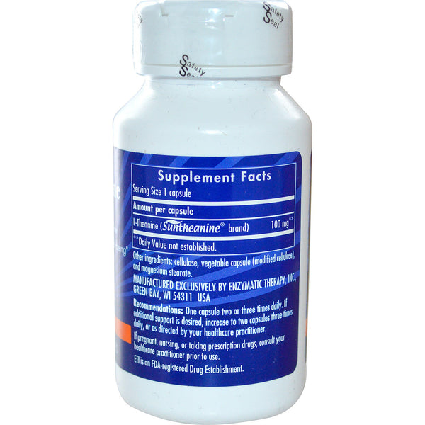 Enzymatic Therapy, L-Theanine, 60 Veg Capsules - The Supplement Shop