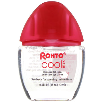 Rohto, Cooling Eye Drops, Max Strength Redness Relief, 0.4 fl oz (13 ml)