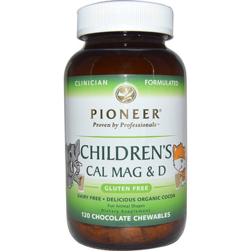 Pioneer Nutritional Formulas, Children's Cal Mag & D, Chocolate, 120 Chewables