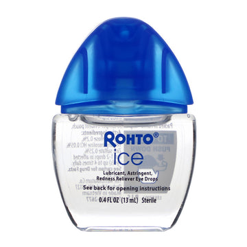 Rohto, Cooling Eye Drops, Ice, All-In-One, 0.4 fl oz (13 ml)