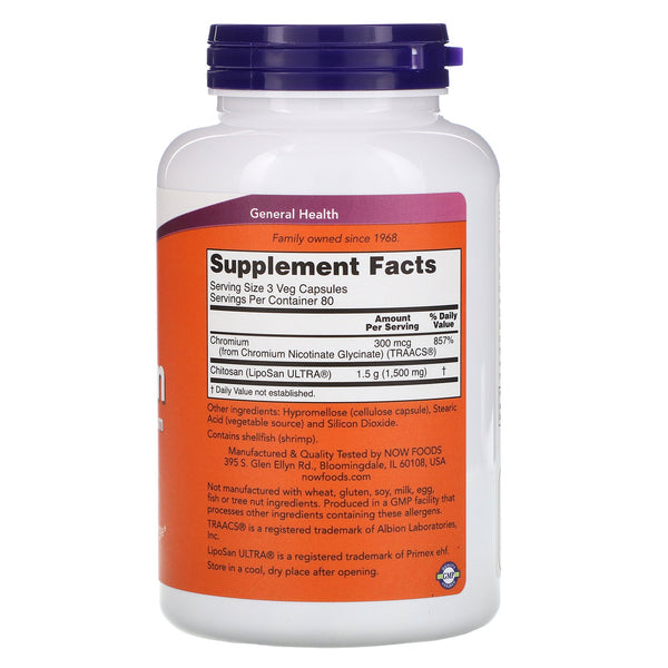 Now Foods, Chitosan, 500 mg, 240 Veg Capsules