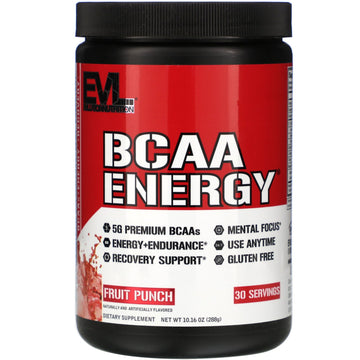 EVLution Nutrition, BCAA ENERGY, Fruit Punch, 10.16 oz (288 g)