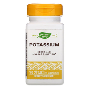Nature's Way, Potassium, 99 mg, 100 Capsules