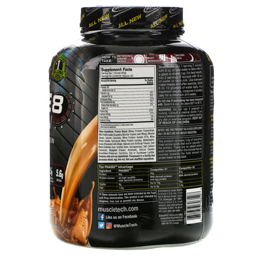 Muscletech, Performance Series, Phase8, Multi-Phase 8-Hour Protein, Milk Chocolate, 4 lbs (2.09 kg)