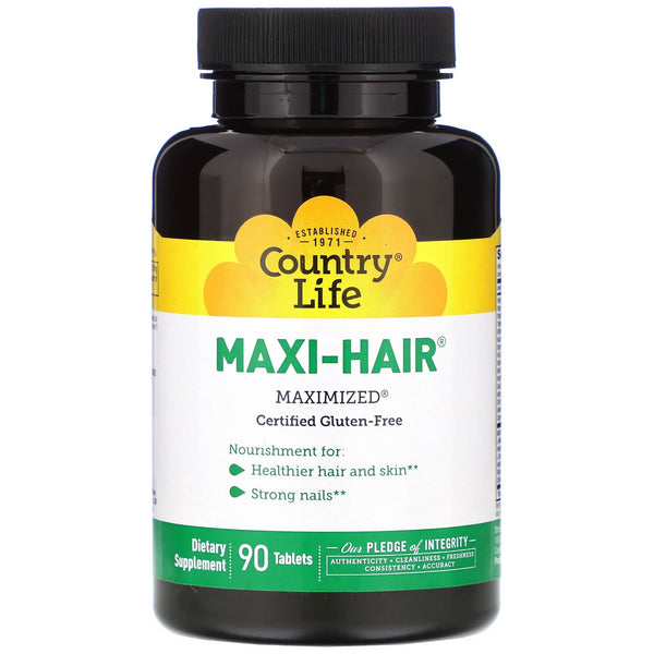 Country Life, Maxi-Hair, 90 Tablets