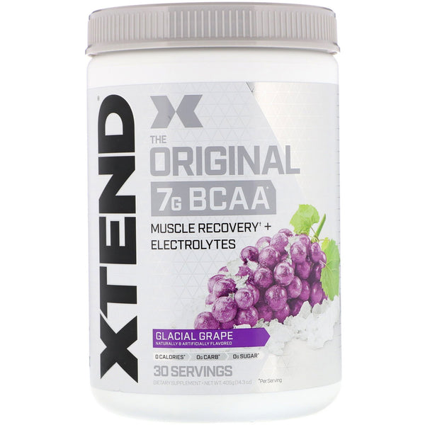Scivation, Xtend, The Original 7G BCAA, Glacial Grape, 14.3 oz (405 g)