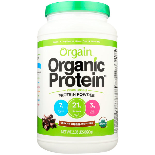 Orgain, Organic Protein Powder, Plant Based, Creamy Chocolate Fudge, 2.03 lbs (920 g) - The Supplement Shop