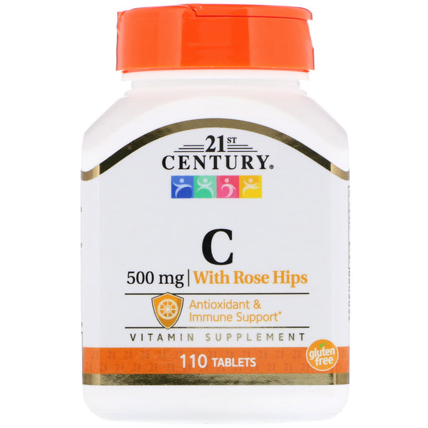 21st Century, Vitamin C with Rose Hips, 500 mg, 110 Tablets