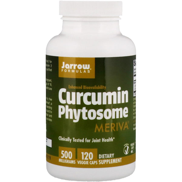 Jarrow Formulas, Curcumin Phytosome with Meriva, 500 mg, 120 Veggie Caps - The Supplement Shop