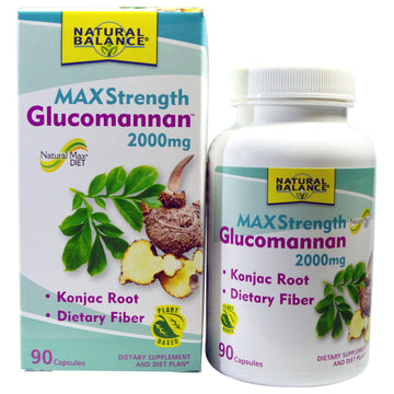 Natural Balance, Glucomannan, Maximum Strength, 2,000 mg, 90 Capsules