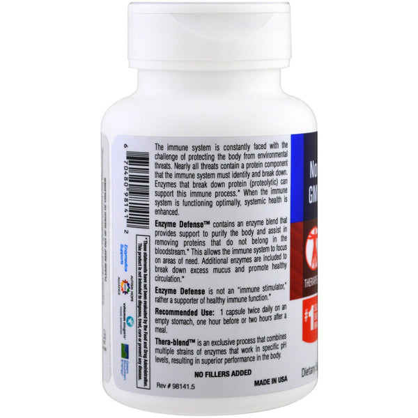 Enzymedica, Enzyme Defense (Formerly ViraStop), 60 Capsules
