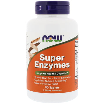 Now Foods, Super Enzymes, 90 Tablets