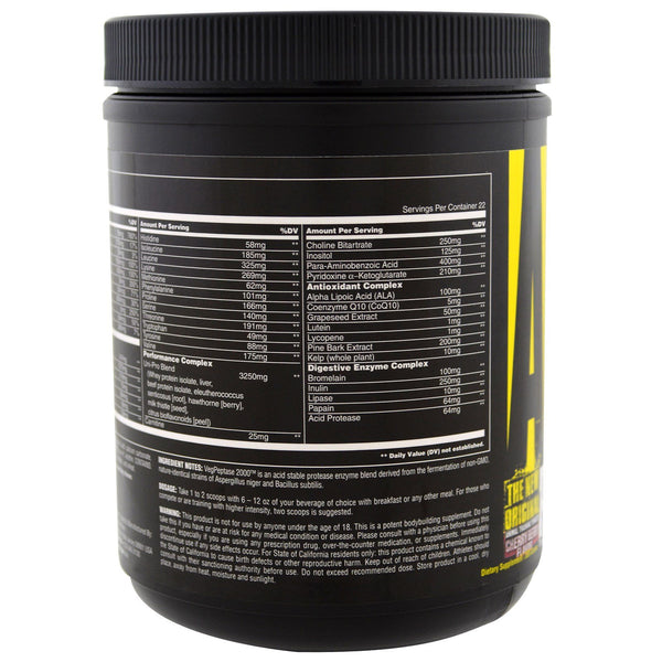 Universal Nutrition, The Original Animal Pak, Animal Training Powder, Cherry Berry, 369 g - The Supplement Shop