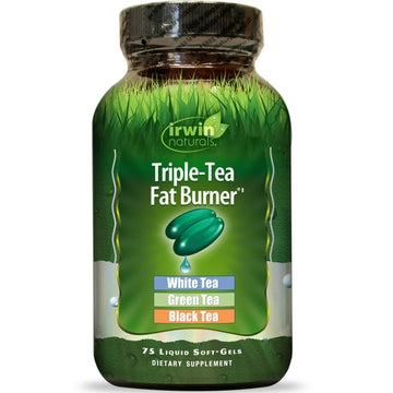 Irwin Naturals, Triple-Tea Fat Burner, 75 Liquid Softgels