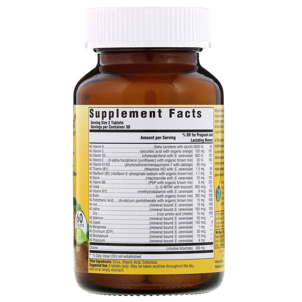 MegaFood, Baby & Me 2, 60 Tablets - The Supplement Shop