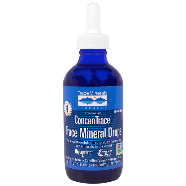 Trace Minerals Research, ConcenTrace, Trace Mineral Drops, Dropper Bottle, 4 fl oz (118 ml) - The Supplement Shop