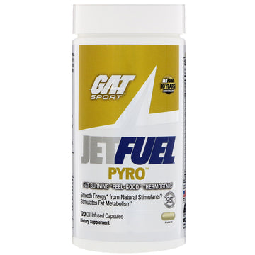 GAT, JetFUEL Pyro, Fat-Burning Thermogenic, 120 Oil-Infused Capsules