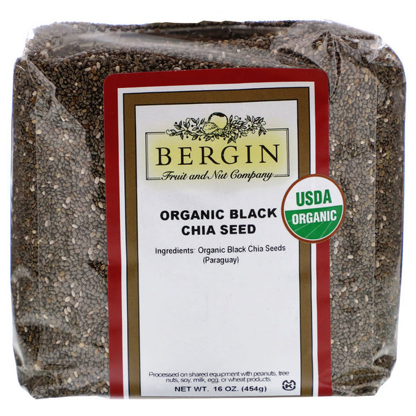 Bergin Fruit and Nut Company, Organic Black Chia Seed, 16 oz (454 g)