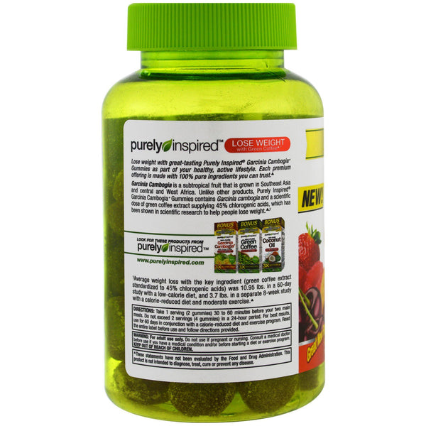 Purely Inspired, Garcinia Cambogia Gummies, Fruit Burst, 50 Gummies - The Supplement Shop