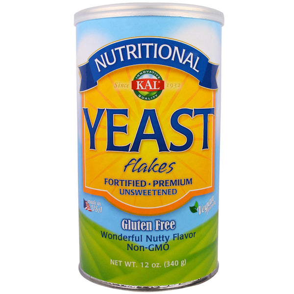 KAL, Nutritional, Yeast Flakes, Unsweetened, 12 oz (340 g) - The Supplement Shop