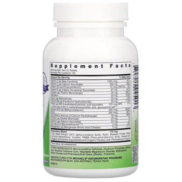 Michael's Naturopathic, Pre-Teen Girls, Daily Multi Vitamin, 120 Vegetarian Tablets