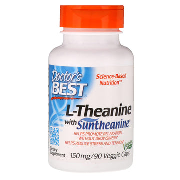 Doctor's Best, Suntheanine L-Theanine, 150 mg, 90 Veggie Caps