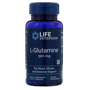 Life Extension, L-Glutamine, 500 mg, 100 Vegetarian Capsules