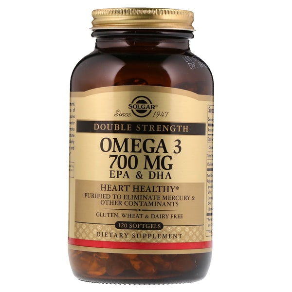 Solgar, Omega-3, EPA & DHA, Double Strength, 700 mg, 120 Softgels - The Supplement Shop