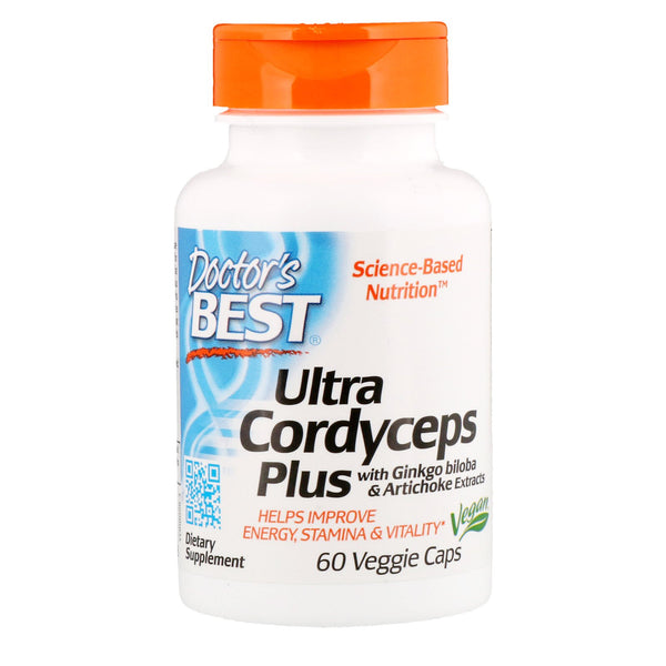 Doctor's Best, Ultra Cordyceps Plus, 60 Veggie Caps