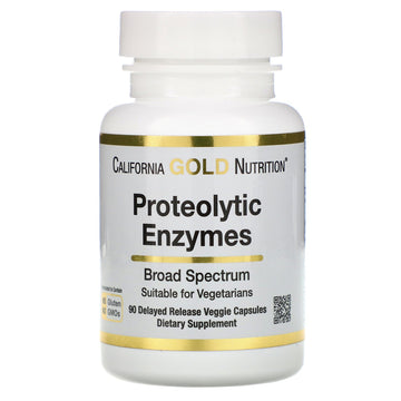California Gold Nutrition, Proteolytic Enzymes, Broad Spectrum, 90 Delayed Release Veggie Capsules
