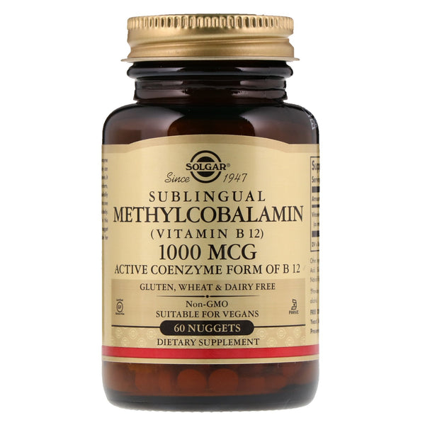 Solgar, Sublingual Methylcobalamin (Vitamin B12), 1,000 mcg, 60 Nuggets