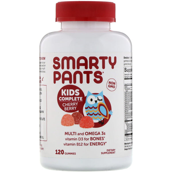 SmartyPants, Kids Complete, Multi and Omega 3s, Cherry Berry, 120 Gummies