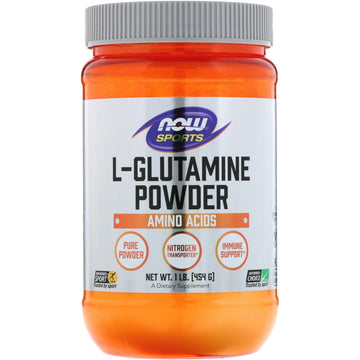 Now Foods, Sports, L-Glutamine Powder, 1 lbs (454 g)