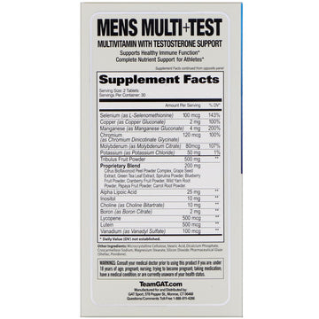 GAT, Mens Multi + Test, 60 Tablets