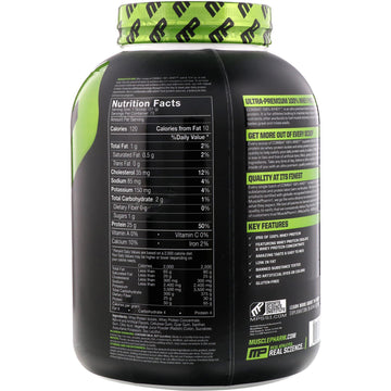 MusclePharm, Combat 100% Whey Protein, Strawberry, 5 lbs (2269 g)