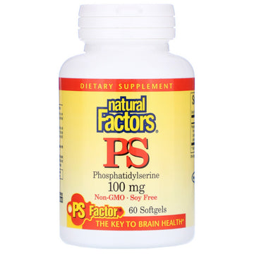 Natural Factors, PS Phosphatidylserine, 100 mg, 60 Softgels
