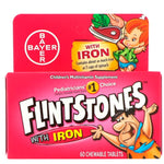 Flintstones, Children's Multivitamin with Iron, Fruit Flavors, 60 Chewable Tablets