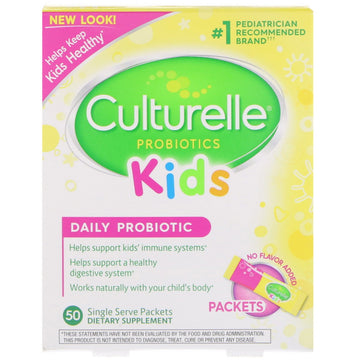 Culturelle, Kids, Daily Probiotic, Unflavored, 50 Single Serve Packets