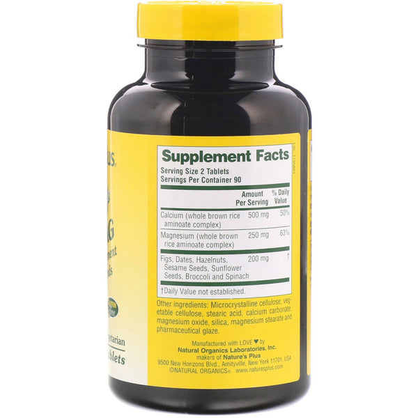 Nature's Plus, Source of Life, Cal/Mag, Mineral Supplement w/ Whole Foods, 180 Tablets - The Supplement Shop