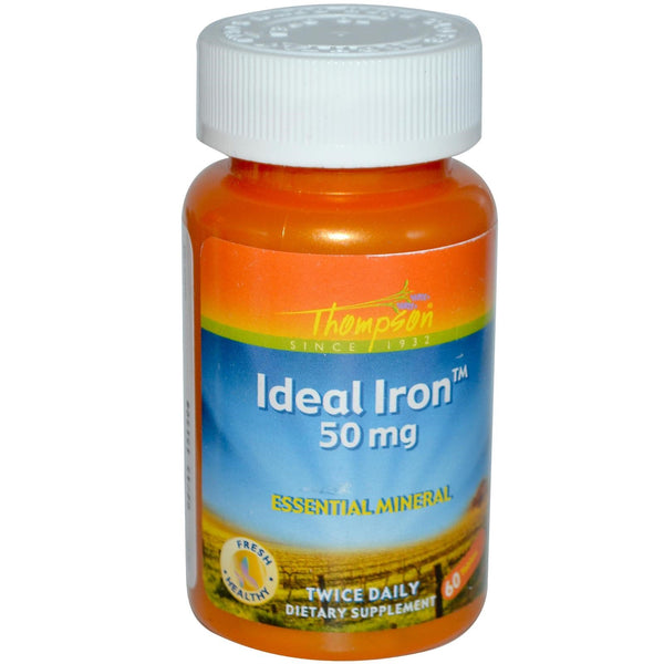 Thompson, Ideal Iron, 50 mg, 60 Tablets