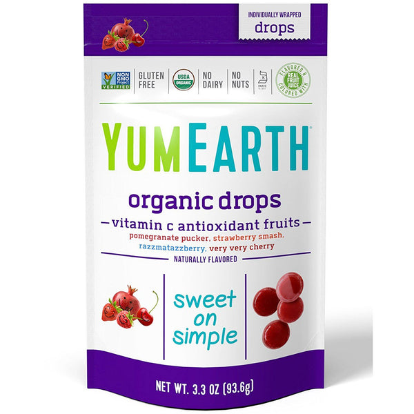 YumEarth, Organic Vitamin C Drops, Anti-Oxifruits, 3.3 oz (93.6 g)