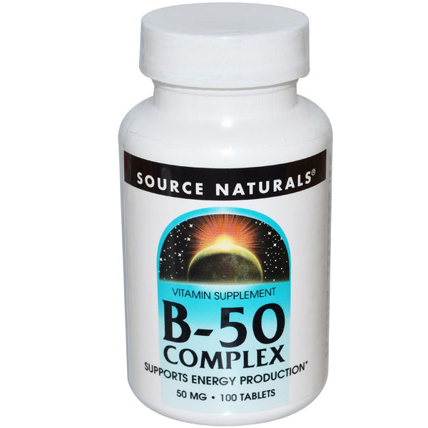 Source Naturals, B-50 Complex, 50 mg, 100 Tablets
