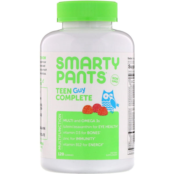 SmartyPants, Teen Guy Complete, Lemon Lime, Cherry, and Sour Apple, 120 Gummies