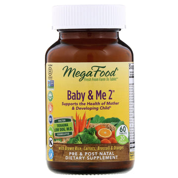MegaFood, Baby & Me 2, 60 Tablets