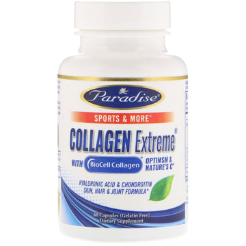 Paradise Herbs, Collagen Extreme with BioCell Collagen, 60 Capsules