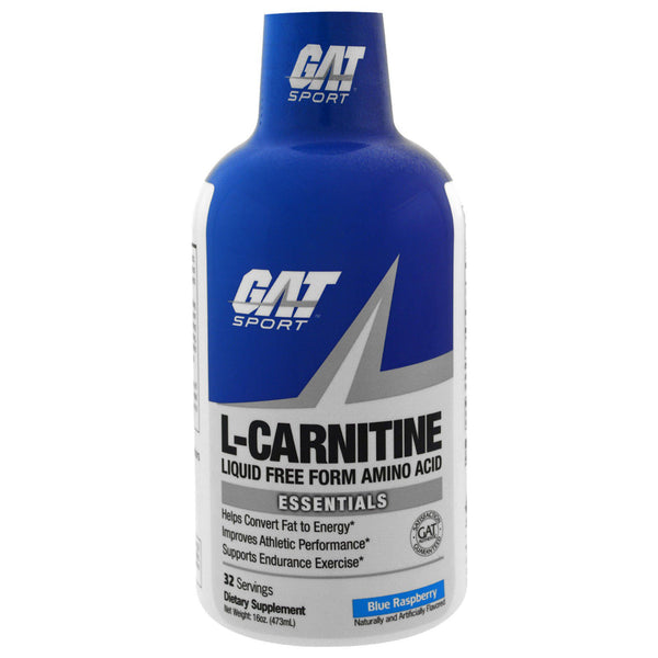 GAT, L-Carnitine, Amino Acid, Free Form, Blue Raspberry, 16 oz (473 ml)